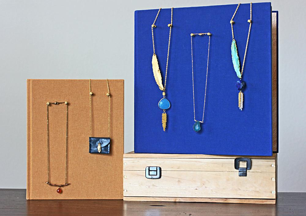 DIY Books Jewelry Storage Ideas